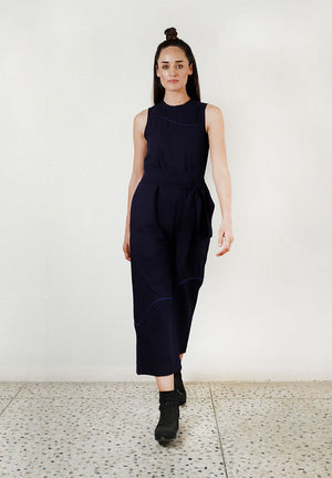Wear Anywhere Blue Jumpsuit