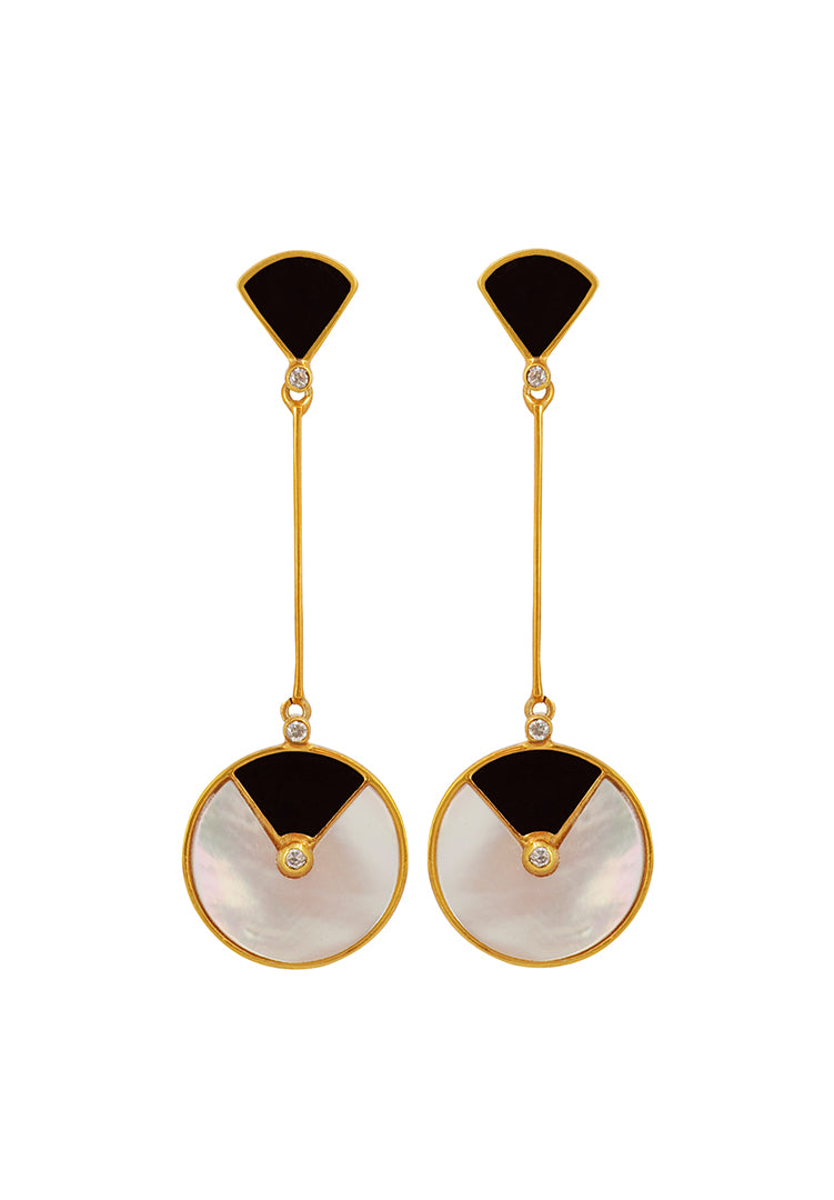 Mop Deco Fan Earrings
