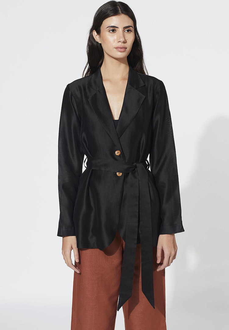 Midnight Silk Jacket