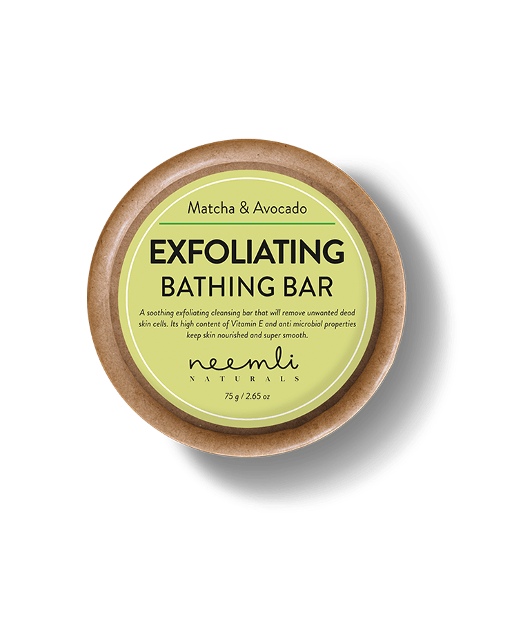 Matcha & Avocado Exfoliating Bathing Bar