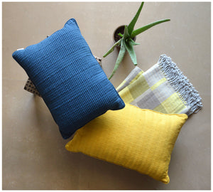 Indigo Structure Cushion