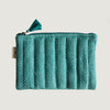 Teal Checks Pouch