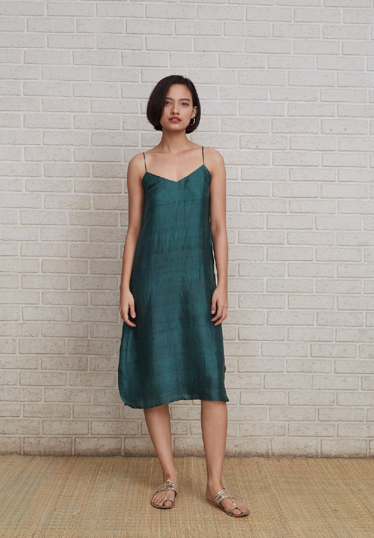 Spaghetti Dress - Green