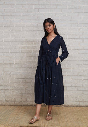 Jamdhani Full Sleeve Dress