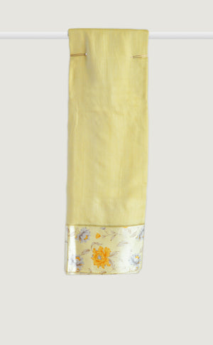 Tussar Satin Border Yellow Saree