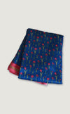 Chanderi Floral Motif Blue Saree