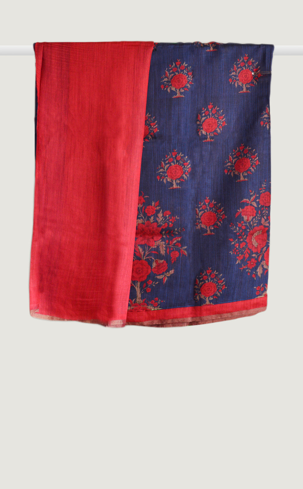 Tussar Georgette Zari Blue Saree