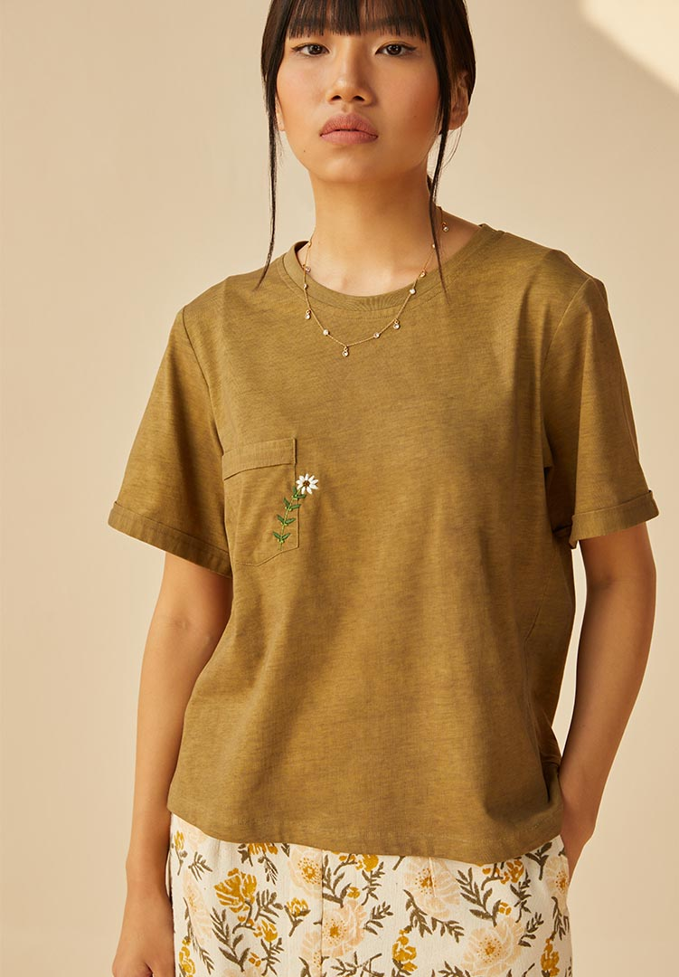 The Daisy Organic Cotton Knit t-Shirt