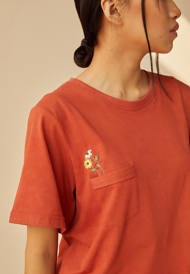 The Wildflower Organic Cotton Knit T-Shirt