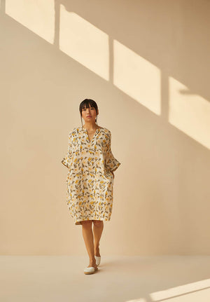 Sunshine Poppy Handwoven Organic Cotton Dress