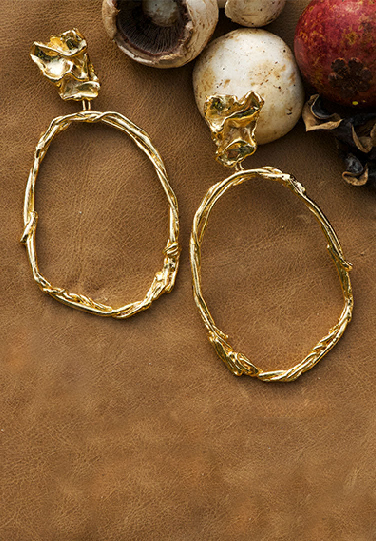 Kinoko Twiggy Hoop Earrings