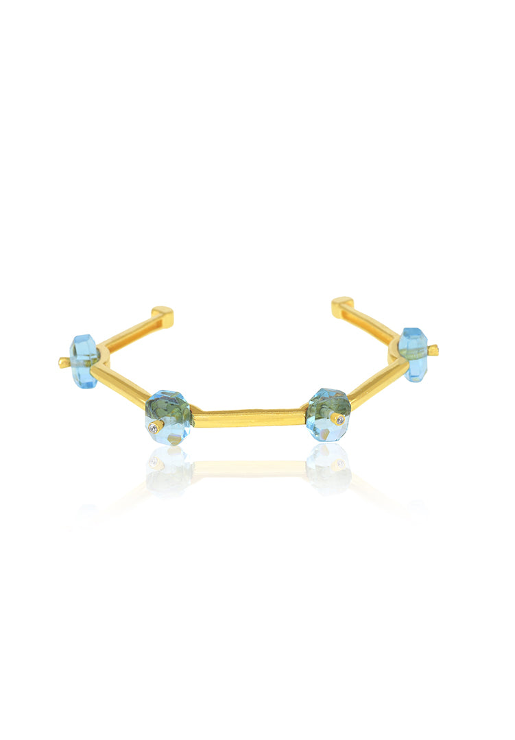Turquoise Classic Hexagon Cuff
