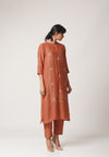 Rust Kurta Set