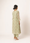 Mint Green Floral Kurta Set