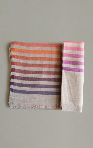 Merino Stripes Beige Pink