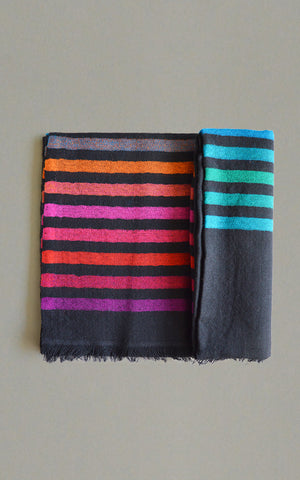 Merino Stripes Black