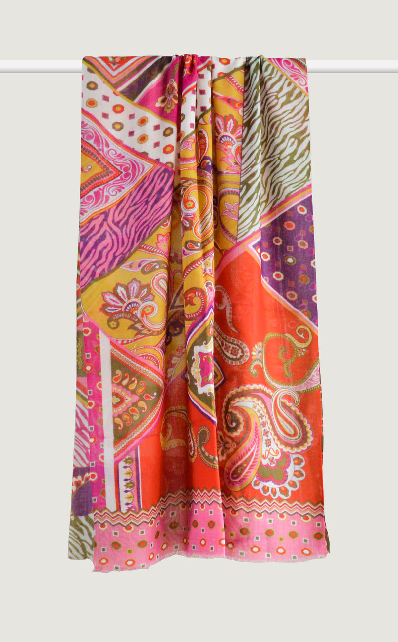 Patterned Paisley Pink