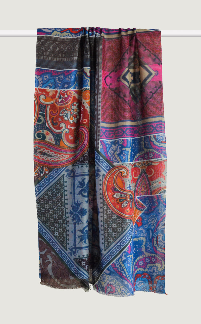 Patterned Paisley Royal Blue