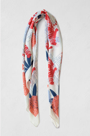 Raas - White Medium Scarf