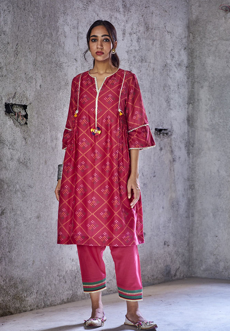 Pushp Kurta Set - Pink