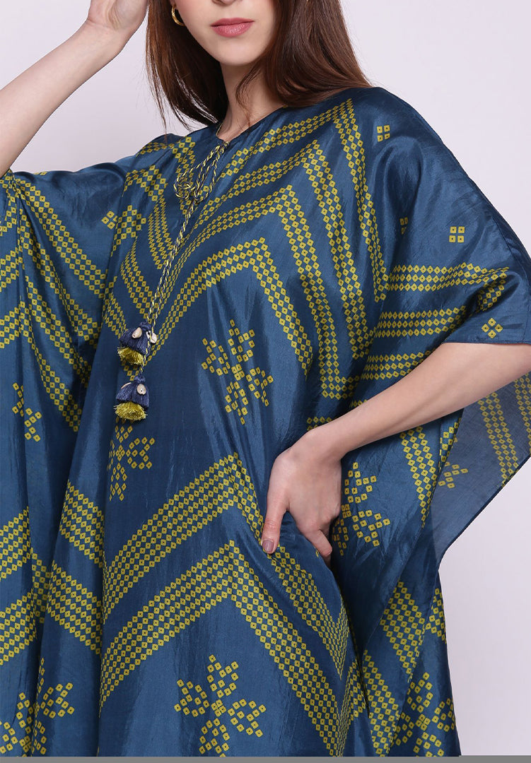 Blue Kaftan with Pants
