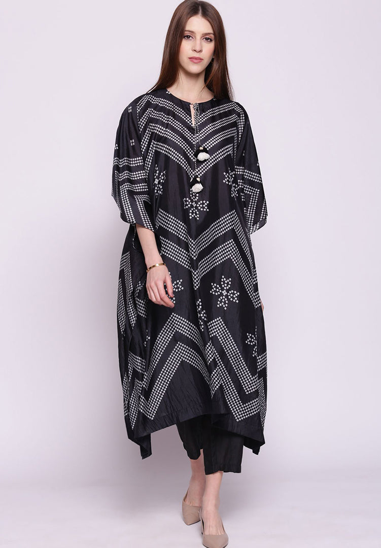 Black Kaftan with Pants