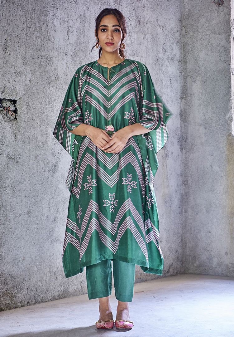 Emerald Green Kaftan Set