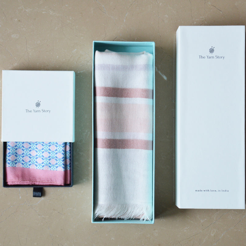 Stole & Pocket Square Gift Set