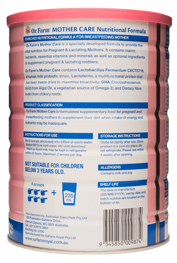 Mother Care Nutritional Formula 900g
