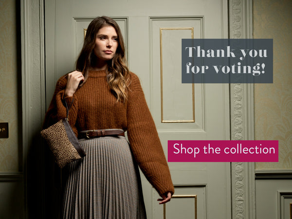 thanks for voting. shop the hair on hide collection
