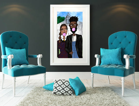 """Pop"" Art African-American Gothic"