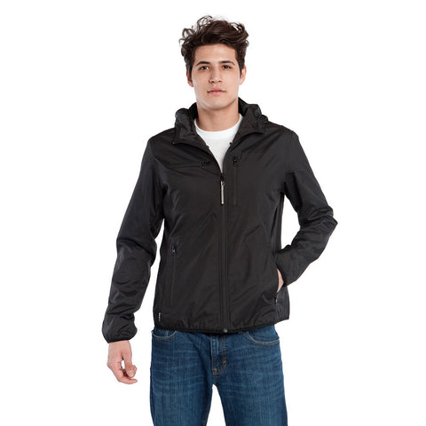 BauBax Mens Travel Windbreaker in Black