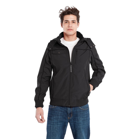 BauBax Mens Travel Bomber Jacket in Black
