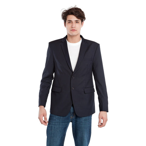 BauBax Mens Travel Blazer in Navy Blue