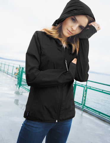 BauBax LadiesTravel Windbreaker in Black