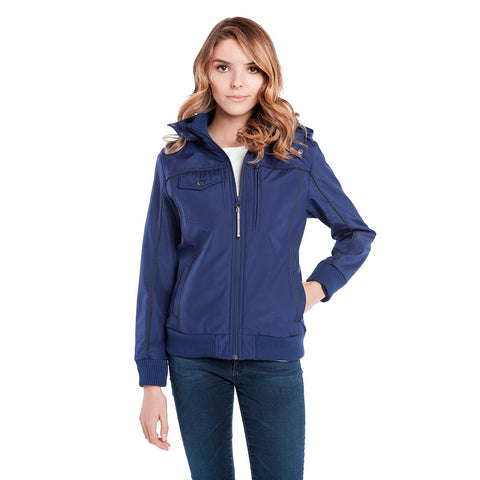 BauBax Ladies Travel Bomber Jacket in Blue