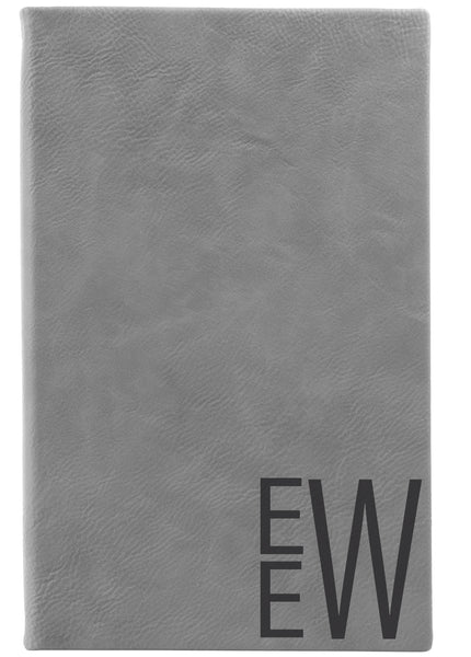 Gray Monogram Journal