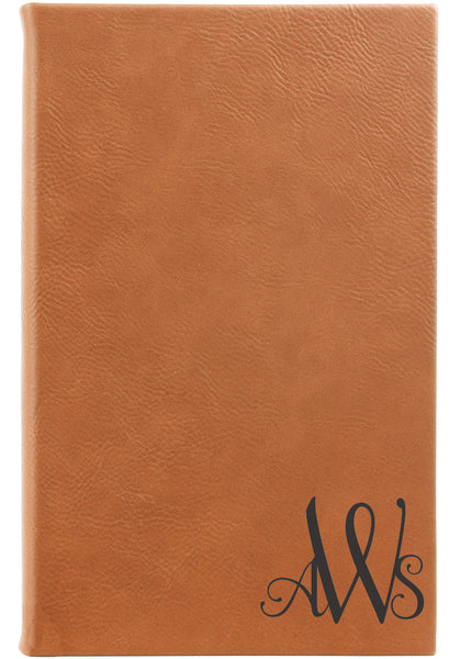 light brown monogram journal