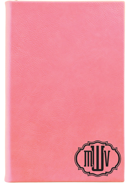 Pink Monogram Journal