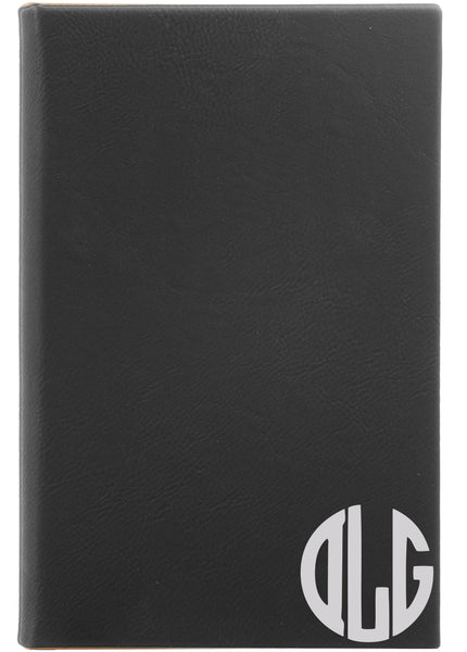 black monogram journal