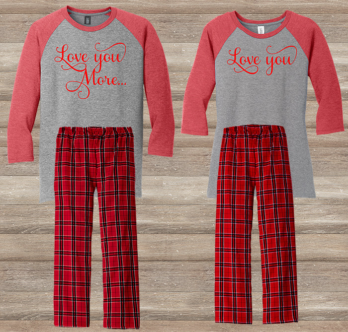 Love you more Pajama Christmas Gift Set