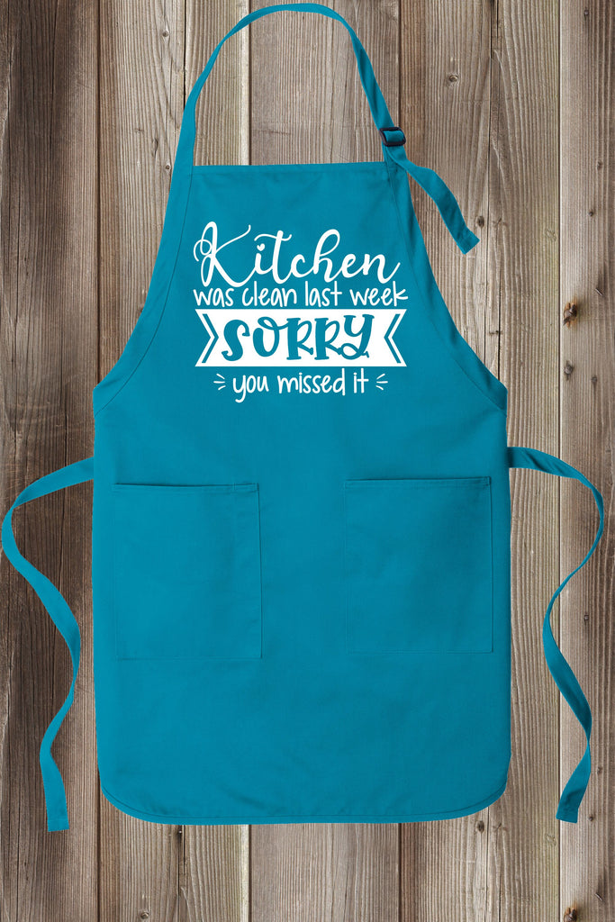 Sarcastic Kitchen Quotes Full-Length Apron Two Pockets