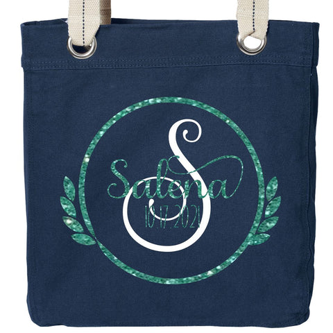 Double Leaf Personalized Tote Bag | Perfect for a Bridesmaid Gift
