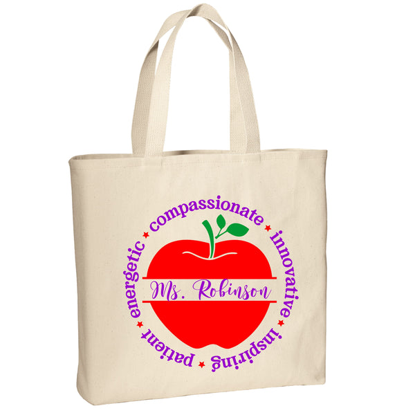 Personalized Teacher Appreciation Tote