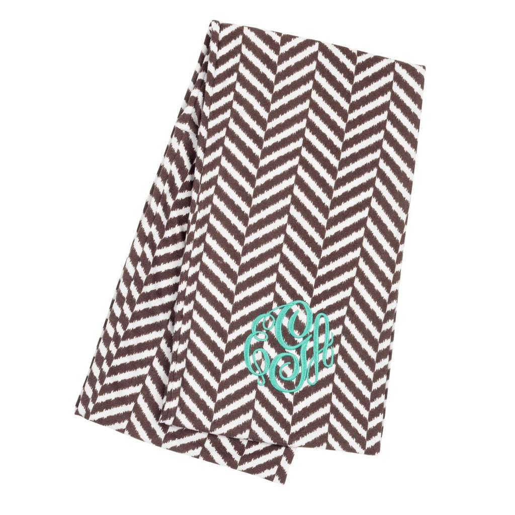Herringbone Scarf - Personalization Available