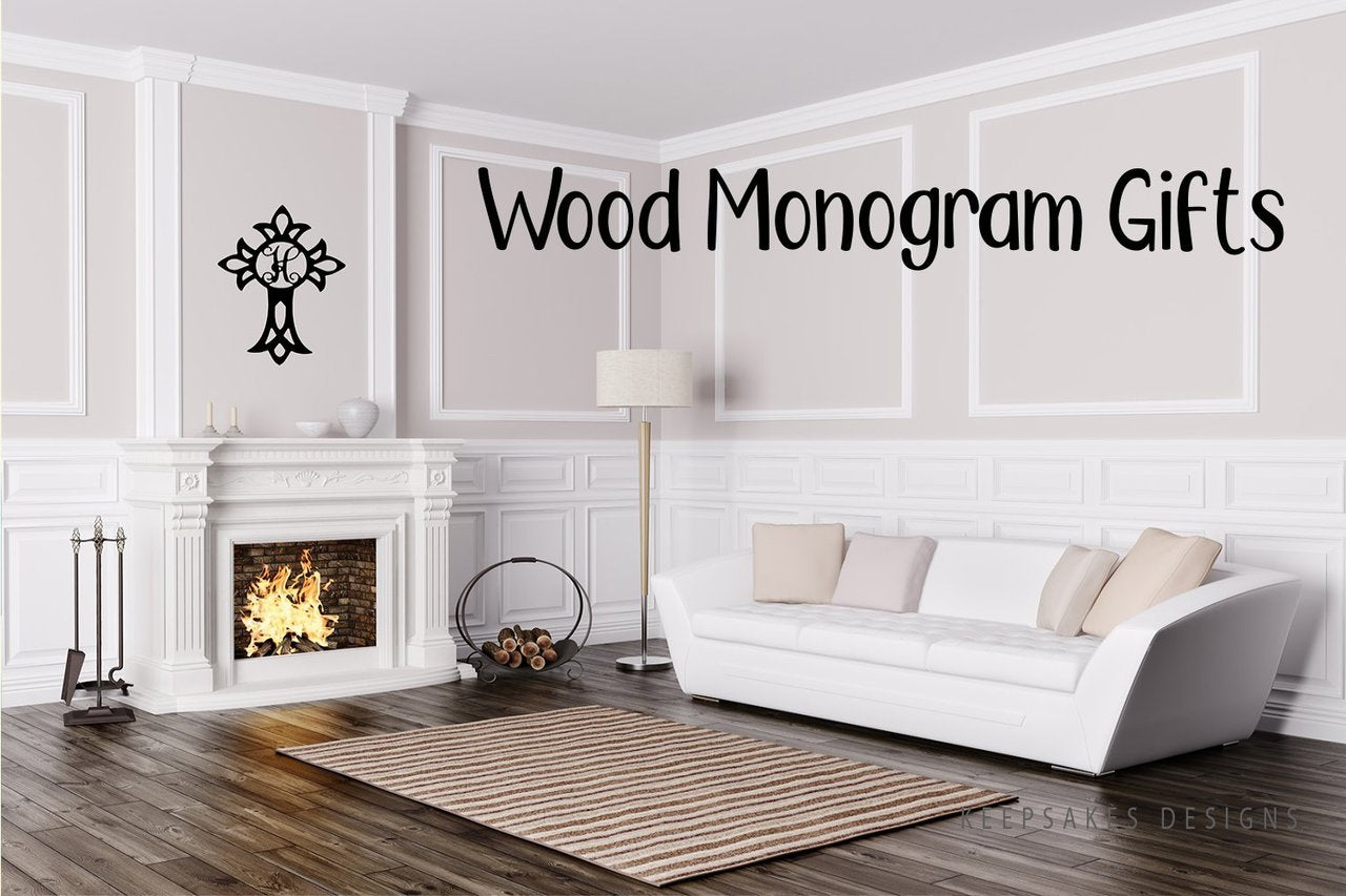 Wood Monogram Gifts | KeepsakesDesigns.com