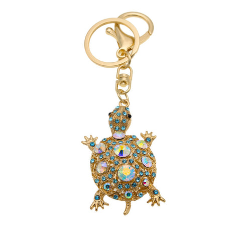 Beautiful Rhinestone Tortoise Keychains