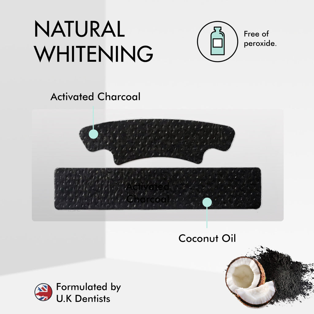 Activated Charcoal & Coconut oil teeth whitening strips