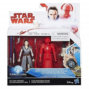 Star Wars: The Last Jedi Rey (Jedi Training) & Elite Praetorian Guard Force Link Figure 2-Pack | Great Find Collectibles