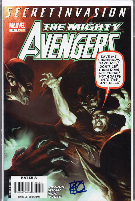 Marvel The Mighty Avengers #17 Signed by Khoi Pham with COA